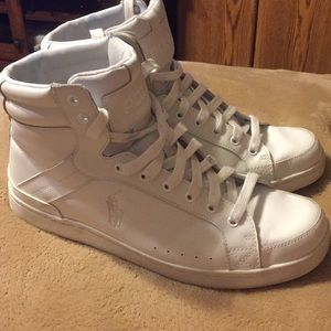 White Polo by Ralph Lauren High Tops